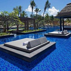 pool bed of Luxury and Contemporary Hotel Built with Natural Elements