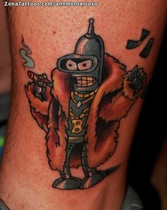 Tatuaje hecho por Ann, de Madrid (España). Si quieres ponerte en contacto con ella para un tatuaje o ver más trabajos suyos visita su perfil: http://www.zonatattoos.com/annmonterroso    Si quieres ver más tatuajes de futurama visita este otro enlace: http://www.zonatattoos.com/tatuaje.php?tatuaje=103542