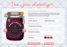 Free Custom Printable Jam Labels - DIY Personalized Labels from the Jam Labelizer