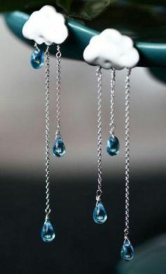 925 Sterling silver Rain cloud Style Party Chain dangle earrings Women best New #NIKI #DropDangle