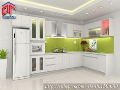 Tủ bếp màu trắng 3