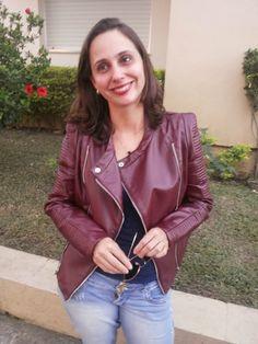 Blog Femina - Modéstia e Elegância: Jaqueta de couro vinho elegantíssima da SheIn