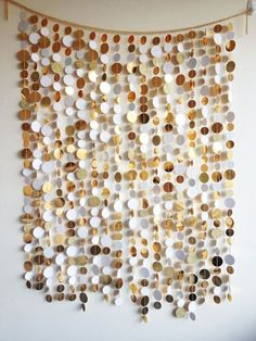 Glamorous gold and white photo booth backdrop.. I love this idea!