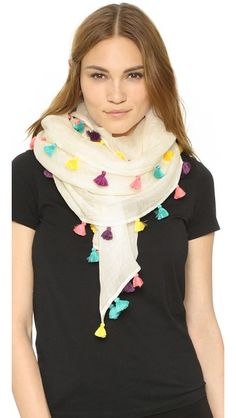 66d10d31a193 Bindya Multi Tassels Scarf Foulards Colorés, Écharpes, Glands, Châle,  Vêtements D