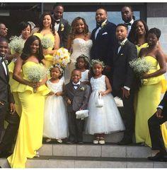 Nigerian Wedding | Yellow + White