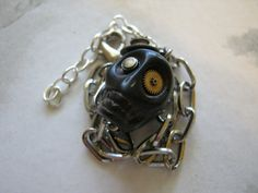 Steampunk Skull Bracelet by jansbeads on Etsy, $29.00
