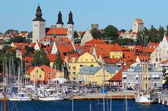 The city of Visby on Gotland island in Sweden