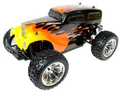 Hot Rod 1:10 Scale 4WD Electric Radio Controlled Monster Truck - http://www.nitrotek.co.uk/241.html
