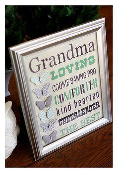 New Birthday Presents For Grandma Free Printable Ideas Mother's Day For Grandma, Presents For Grandma, Birthday Gifts For Grandma, Grandma Gifts, Mom, Mothers Day Crafts, Crafts For Kids, Kids Diy, Baby Crafts