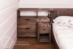 Кровать Мартем  - кровать из массива дуба с изголовьем