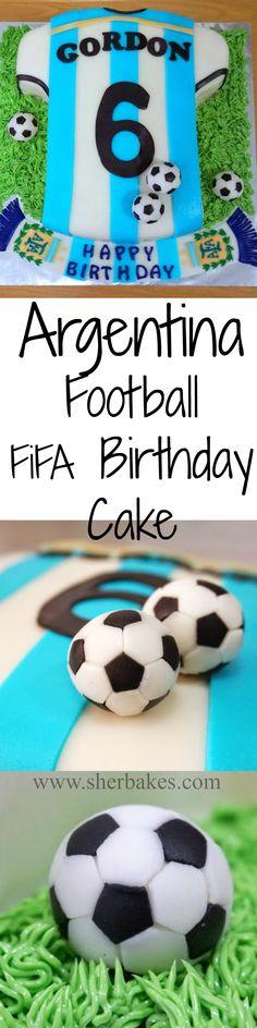 Every Boy's dream- Argentina Football FIFA World cup birthday cake!
