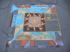 chalk art, Holly Schineller - Fibonacci, San Diego Festival 2013