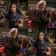 Sofia Carson as Evie and Cameron Boyce as Carlos