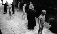 A scene from the Oresteia by Aeschylus, directed by Luca Ronconi in Venice (1972).