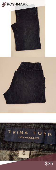 ??New Listing??Trina Turk Jeans Trina Turk Jeans, Size 6  Great Fit and Great Look! 2 Side Front Pockets, No Back Pockets. Trina Turk Jeans Boot Cut