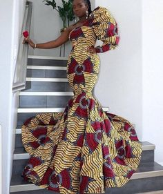 African Wear Dresses, Latest African Fashion Dresses, African Print Fashion, African Attire, Ankara Fashion, Africa Fashion, African Prints, African Fabric, Dashiki Prom Dress