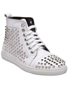 Hi Top Spike Sneakers by Rodney P  Hunt