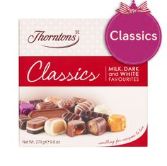 Thorntons Classics - Milk, Dark & White Loved by all Yummy Treats, Delicious Desserts, Sweet Treats, Thorntons Chocolate, Chocolate Hampers, Selection Boxes, Christmas Hamper, Chocolate Toffee, Thorntons Hamper