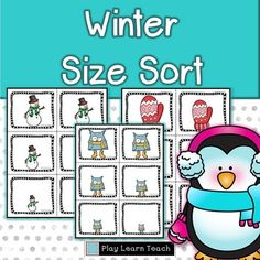 rockthenewyearfreebiesWinter Sort is a Winter Center activity for early learners. The set of winter images can be used in small groups, at home, or in preschool classrooms.  The students  practice sorting by size and the sequencing by size.This resource will be free for one day only - Thursday  12/31/15.