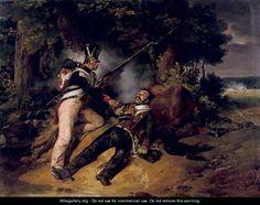 La derniere cartouche (the fallen hero) - Horace Vernet