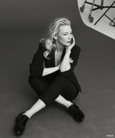 Cate Blanchett, behind-the-scenes for Giorgio Armani 'Si' Fragrance Campaign, 2013.