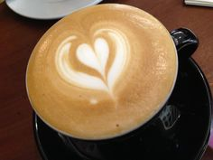 Rewards myself a cup of #Cappuccino with the lovely heart drawing #Love #Art #Coffee #Drink