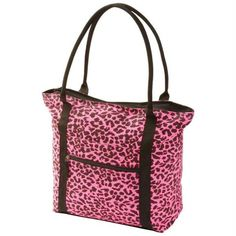 Extreme Pak Neon Pink Leopard Print Shopping Tote