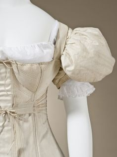 Pair of Woman's Sleeve Plumpers Corset England, 1830-1835