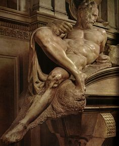 """Crepuscolo"" Michelangelo Sagrestia Nuova, Firenze"