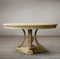 James Round Dining Table from Restoration Hardware Wood Furniture Legs, Furniture Styles, Dining Room Furniture, Oval Table, Round Dining Table, Round Tables, Restoration Hardware Dining Table, Table And Chairs, Dining Chairs
