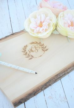 Personalized rustic guest book alternative - wedding wood slice guest book alternative- boho chic Spring 2014  Ask a Question $35.00 USD