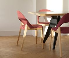 Year: 2013 The design of the Clamp Chair was driven by the idea to create comfortable yet light furniture, that emphasizes the beauty of the wood material and modern craftsmanship. Its appearance is characterized through the seamless transitions between all parts. The upholstered seat and...