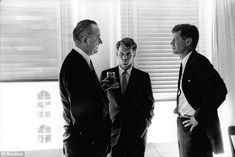 Worried: JFK, pictured here with Lyndon Johnson in 1960, was said to have had concerns about what would happen if his former rival and Vice-President took office