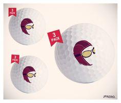 """The Aviator Golf Balls"" - They go further.. guaranteed! BUY NOW on http://www.cafepress.com/jpaero.1667828425    #golfballs #golf #giftideas #avgeek #golfgifts #pilot #aviator"
