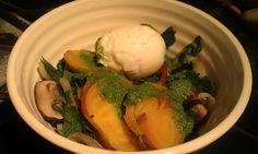 Warm Golden Beet Salad with Beet Green Pesto (Gluten Free, Dairy Free)