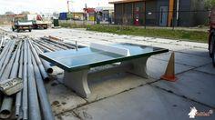 Pingpongtafel Groen bij Openbare Werken Gemeente Velsen in Velsen-Zuid