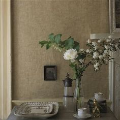 The wallpaper Tesserae - Gold - from Designers Guild is wallpaper with the dimensions m x m. The wallpaper Tesserae - Gold - belongs t Mosaic Wallpaper, New Wallpaper, Designers Guild Wallpaper, Drops Patterns, Wallpaper Samples, Mosaic Patterns, Flocking, Mosaic Tiles, Texture