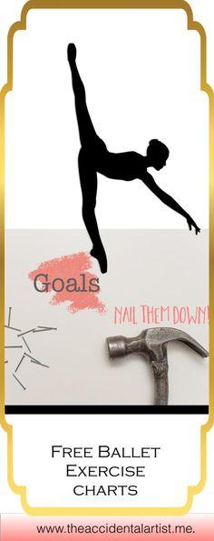 Dancers with goals~ free ballet exercise charts for Accidental Artist members! Dance Teacher, Dance Class, Adult Ballet Class, Dancer Stretches, Goal Charts, Dance Movement, Professional Dancers, Learn To Dance, Teacher Blogs