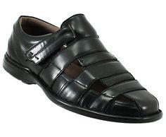 Black Mens Dress Sandals