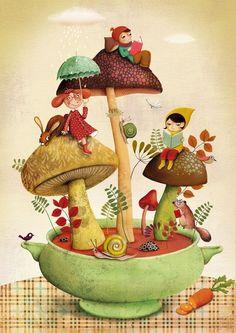 Иллюстрации художников, автор Marie Desbons