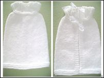 Tiny Angel Gown submitted by Christine M Woolley We are often asked for small plain gowns for tiny losses no bigger that Some parents prefer the larger Angels pockets, other the gowns. At this sad time we are grateful to be able to offer them a choice. Crochet Christening Patterns, Baby Knitting Patterns, Baby Patterns, Crochet Patterns, Preemie Babies, Preemies, Premature Baby, Preemie Crochet, Crochet Baby Boots