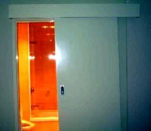Wheelchair Bathroom Design The entrance-way can be designed in different ways. You can have the standard swinging doors, swinging inside or ...  **GOOD UNIVERSAL DESIGN TIPS @ http://www.handicappedequipment.org/