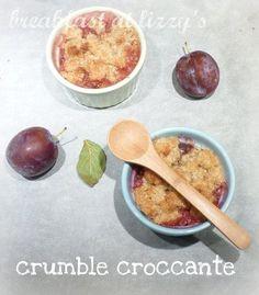 Crumble croccante di kamut alle prugne