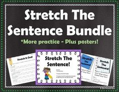 Practice stretching out sentences with this bundle! These writing activities can be used in writing workshop, writing centers, or just extra practice.