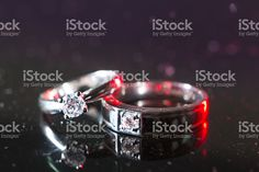 Close up to wedding rings royalty-free stock photo