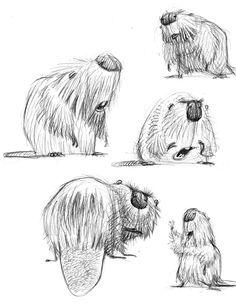 by Carter Goodrich© character char Character Design Inspiration, Animal Design, Animal Art, Character Design, Animal Drawings, Animal Sketches, Art, Animal Illustration, Creature Design