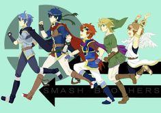 Marth, Ike, Roy, Link, Pit