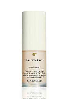 Sundari Omega 3 Plus and Algae Day Serum, Ounce Anti Aging Serum, Facial Skin Care, Special Deals, Omega 3, Image Link, Beauty, Note, Amazon, Check
