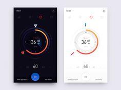 Training - сoncept by Renat Muratshin 🚀 - Dribbble Mobile Ui Design, App Ui Design, Dashboard Design, User Interface Design, Flat Design, Wireframe, Tablet Ui, App Design Inspiration, Ui Web