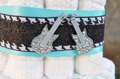 Rock n Roll, Guitar, Boy Baby Shower Party Ideas | Photo 17 of 40 | Catch My Party